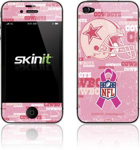 Skinit Dallas Cowboys Breast Cancer Awareness Skin for Apple iPhone 4
