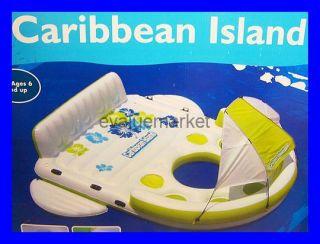 Inflatable Raft Caribbean Island Float Pool Lake Ocean