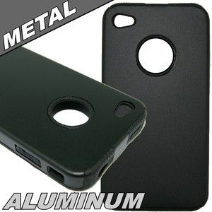 Black Metal case for iPhone 4 4S cell phone cover case protector
