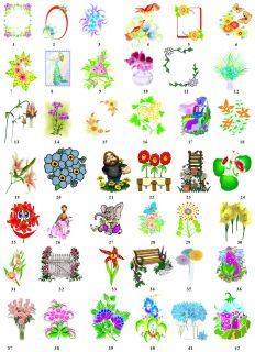 Colorful Flowers Spring Fun Return Address Labels Gift Tags Buy 3 Get