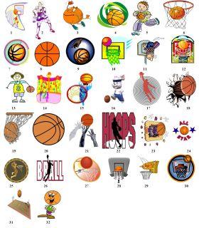 Sports Basketball Return Address Labels Gift Favor Tags Buy 3 Get 1