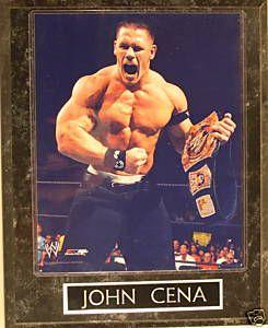 John Cena WWE WWF Wrestling Collectible Photo Plaque