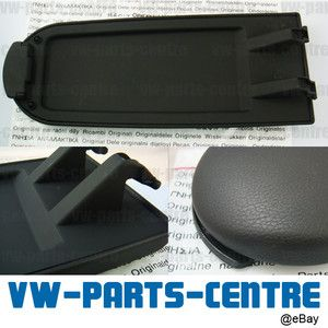 Black Armrest Cover Center Console Latch for VW Jetta Golf Bora Skoda