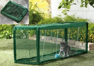 Indoor or Outdoor Cat Screened Play Safety Tunnel New