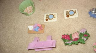Huge Lot Fisher Price Loving Family People Furniture Dollhouse Van