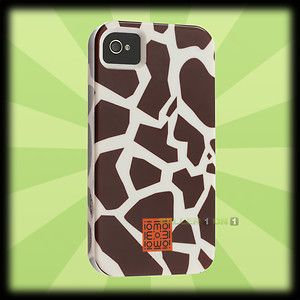 Case Mate Dual Layered Tough Case for Apple iPhone 4 4S Giraffe Print