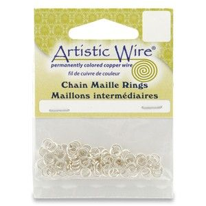 Chain Maille Rings Silver Mail Jump Ring 18 or 20 Gauge