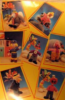 Knitting Pattern Book Charlie Chalk Character Dolls