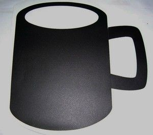 Chalkboard Coffee Mug Vinyl Sticker Black Large