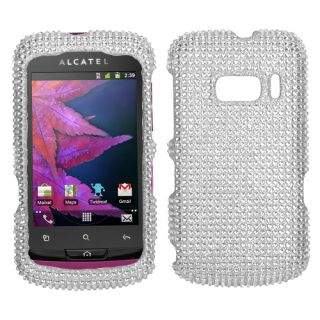 918(One Touch) Cell Phone Case Cover Bling Rhinestones Silver Diamond