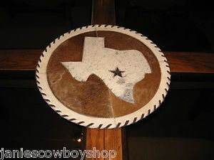 Western Table Top Placemats Dresser Display Cowhair Texas Decor