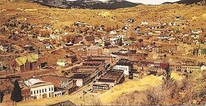 Historic Central City Colorado Early Gold Mining Town Vintage Postcard