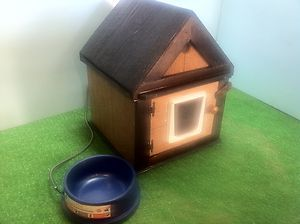 HEATED/INSULATED OUTDOOR CAT HOUSE/HEATED BOWL, SHELTER, BED