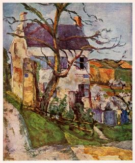 Landscape House Fall Tree Paul Cezanne Painting Art Postimpressionism