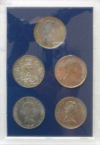 United Kingdom Crown Collection from 1965 1981 5 Coins