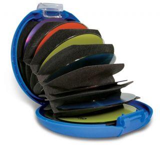 Discgear Discus 20s CD DVD Storage Case Wallet Blue Brand New Free