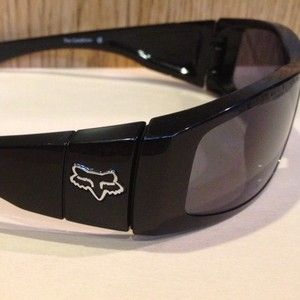 Fox The Condition Sunglasses Grey Polarized Lens Polished Black Frame