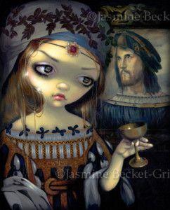 Lucrezia Cesare Borgia Vampire Gothic Art Big Print