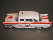 GAZ 13 Chaika Ambulance Russian USSR Retro Limousine Diecast Model 1