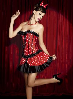 Ladies Teen Minnie Mouse Storybook Character Costume Free Post