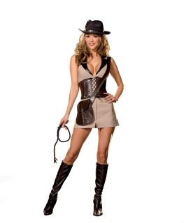 Hunter Female Indiana Jones Small New Great Safari Costume Too