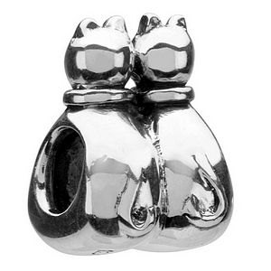 Authentic Chamilia Sterling Silver GB 25 Cats Charm Bead