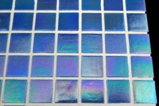 Ocean Pearl Blue Color Iridescent Mosaic Glass Tile for Kitchen & Bath