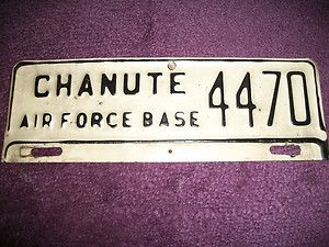 Chanute Air Force Base License Plate