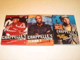 Chappelles Show Uncensored Complete TV Series Seasons 1, 2, & Lost