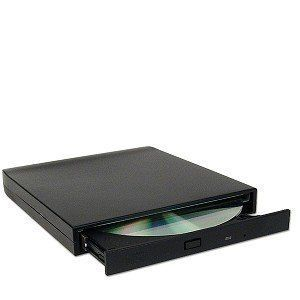 New USB External 24x CD ROM Drive with Case Cords Driver Manual No Box