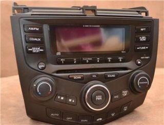 Honda Accord 03 07 Radio Stereo CD 6 Disc Changer 39175 SDN A110 7BY0