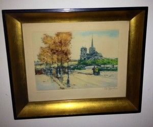 Dame de Paris Signed Limited Edition Print Charles Blondin