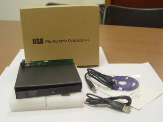 CD DVD RW External Enclosure Case SATA 2nd HDD Hard Drive Caddy