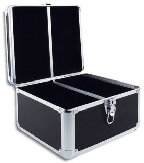 300 DISC BLACK PVC LEATHER CD/DVD DJ CASE WITH ALUMINUM TRIM