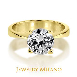 25 CARAT E VS CERTIFIED DIAMOND PROMISE RING YELLOW GOLD 18K