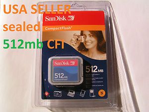 1pcs 512MB SanDisk Compact Flash CFI Memory Card for Nikon Canon Kodak