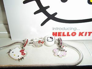 Charmed Memories Kay Jewelers Hello Kitty Bracelet with Charms New