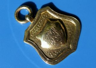 ANTIQUE DECO SOLID 9ct ROSE GOLD Bham 1927 WATCH FOB *No Res*
