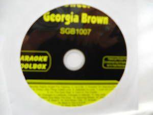 Sweet Georgia Brown Karaoke CDG Disc Toolbox SGB1007