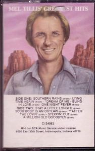 Mel Tillis Greatest Hits Cassette 70s Classic Country