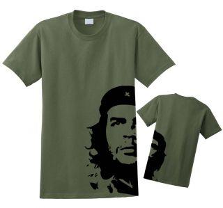 Che Guevara T Shirt Military Green Revolution New s 2XL Cuba Free