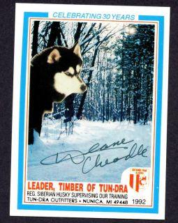 TUN DRA Outfitters Signed Deane Cheadle Siberian Husky