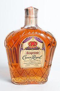 Vintage Bottle 1952 Seagram's Crown Royal Whisky 4 5 Quart