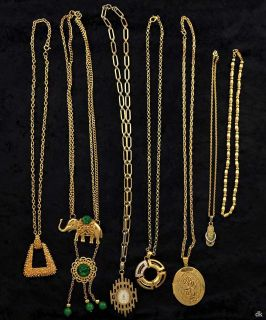 Gold Toned Necklaces Locket Elephant Pendnat Napier