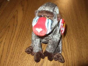 Ty Beanie Baby Original Cheeks The Baboon Retired on PopScreen 74d52f05581