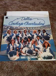 Dallas Cowboys Cheerleaders 1980 Calendar Dell Collectible Football