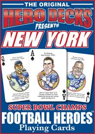 New York Giants Super Bowl NFL Football Playing Poker Cards Fans Hero