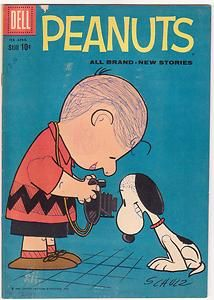 Peanuts 4 Dell 1960 Charlie Brown Snoopy Charles Schulz Lucy Linus Pig