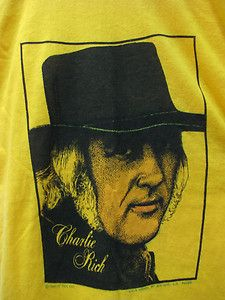 Vtg American Charlie Rich Band Country Song Shirt Soft Thin 50 Poly 50