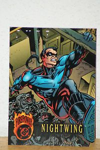 1996 Fleer Skybox DC Outburst Firepower Card Nightwing 64